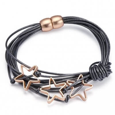Leder-stern-armband